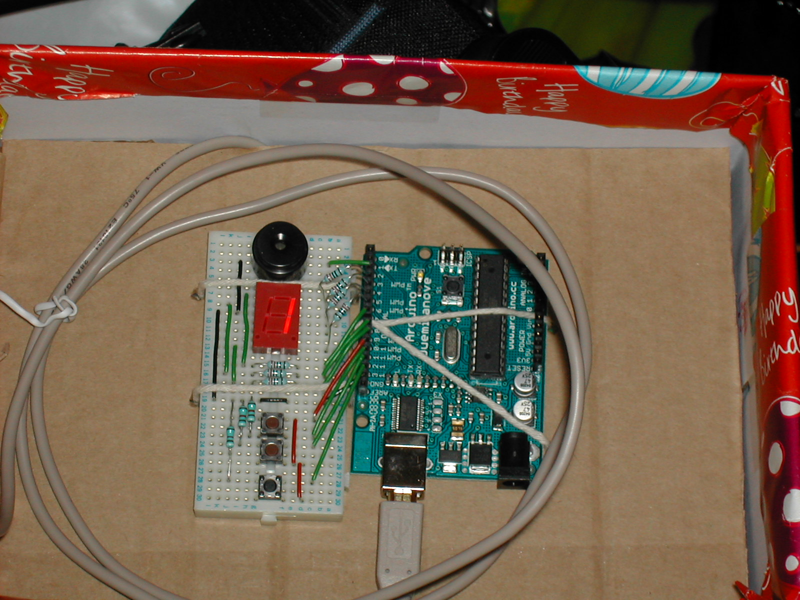 An arduino gift box ready to go