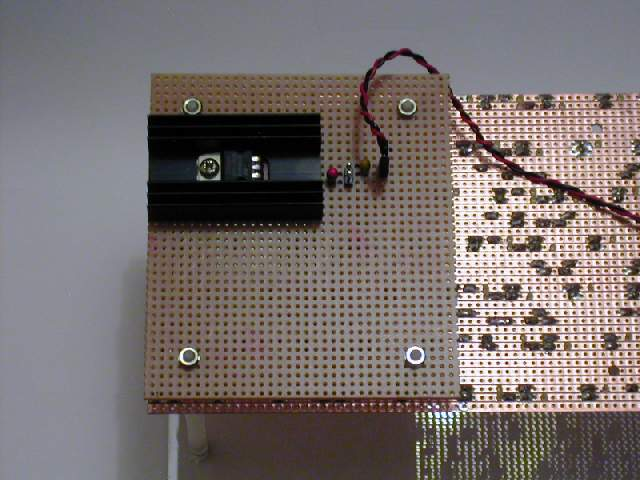 LED board mounted on Perspex using nylon PCB spacers
